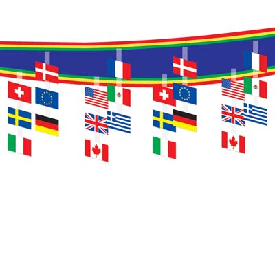 International Flag Ceiling Decorator - 3.66m