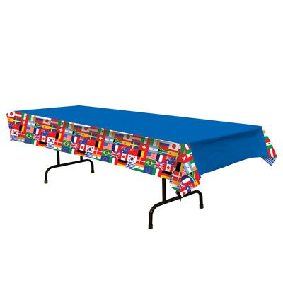 Plastic International Flag Tablecloth - 2.74m
