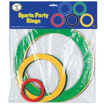 Olympic Rings Cutout Decorations - 30.5cm - Pack of 15