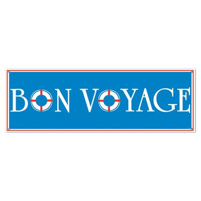 Bon Voyage Sign Banner - 1.52m - All-Weather