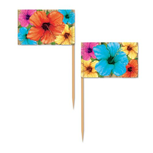 Hibiscus Picks - 6.4cm - Pack of 50