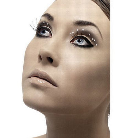 Click to view product details and reviews for Black Eyelashes With Jewel Droplets.