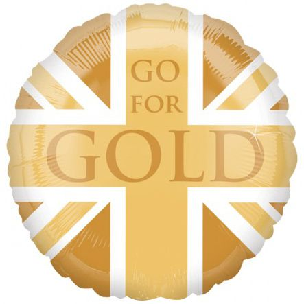Go For Gold Union Flag Foil Balloon - 18""