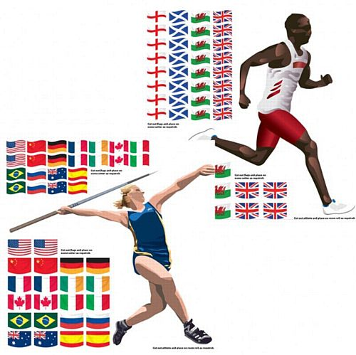 Summer Athletics Wall Decorations - 85cm