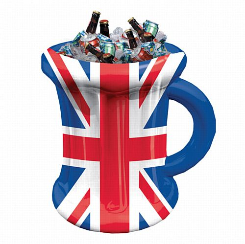 Great Britain Inflatable Beer Mug Drinks Cooler - 45cm