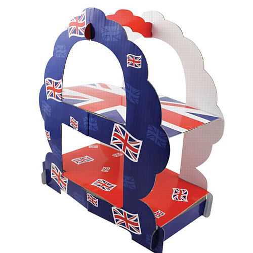 Great Britain 2 Tier Sandwich Stand - 35cm