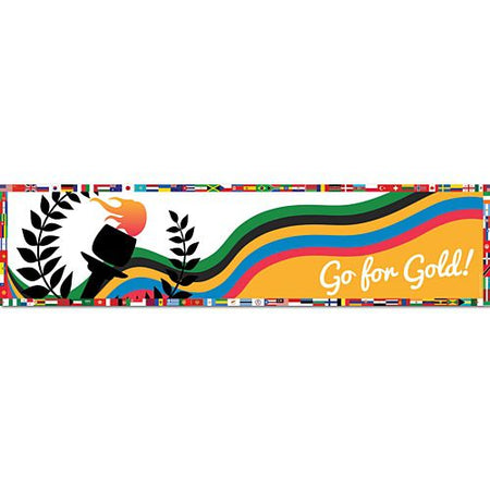 Go for Gold Summer Olympics Banner - 1.2m