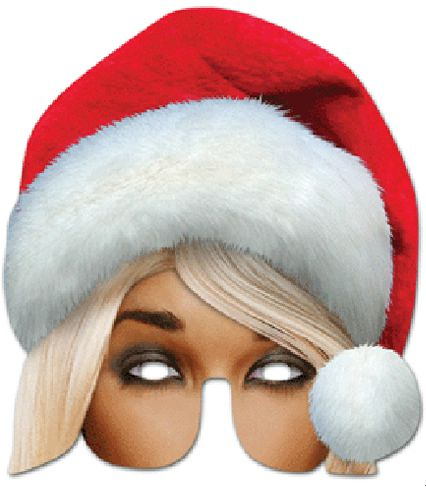 Mrs Claus Card Mask