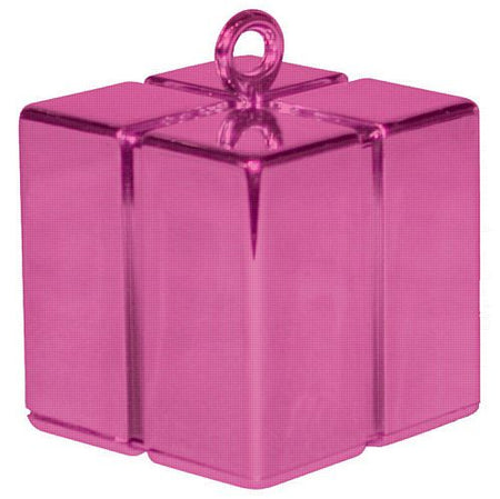 Hot Pink Gift Box Balloon Weight - 110g - 62mm