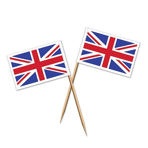 Union Jack Flag Picks - 6.4cm - Pack of 50
