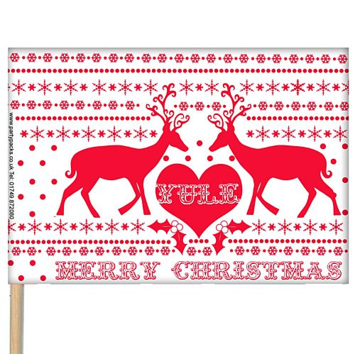 "Christmas Table Flag 6"" on 10"" Pole"