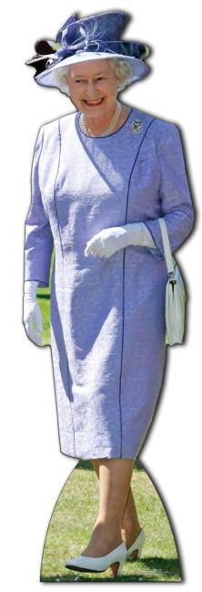 Queen Elizabeth in Lilac Dress Lifesize Cardboard Cutout - 1.7m