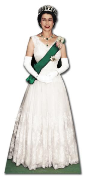 Queen Elizabeth in 1956 Lifesize Cardboard Cutout - 1.81m