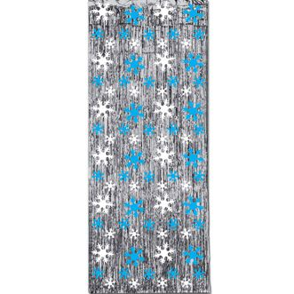 Snowflake Shimmer Curtain - 2.44m