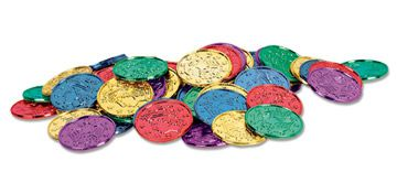 Plastic Coins - 3.8cm - Pack of 100