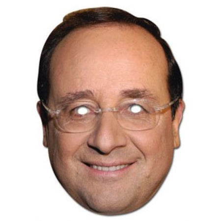 Francois Hollande Card Mask