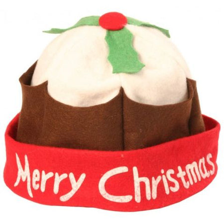 Merry Christmas Pudding Hat