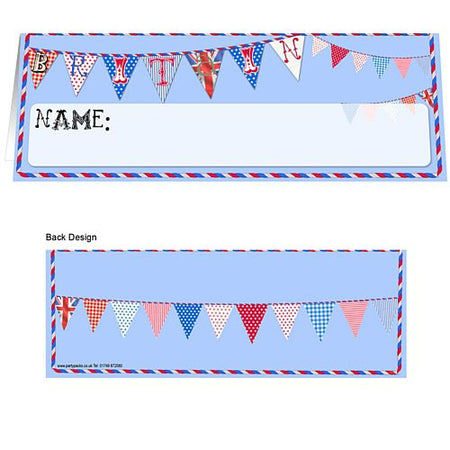 British Themed Placecards - Pack of 8