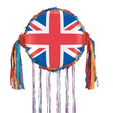 Union Flag Balloon Pinata - 18""