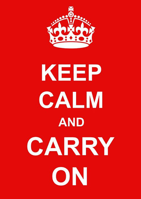 Click to view product details and reviews for Keep Calm And Carry On Poster A3.