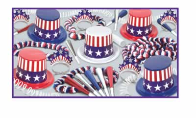 Spirit of America Hat and Novelty Party Pack For 50