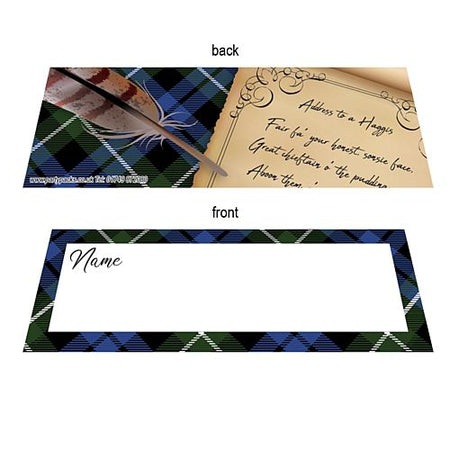 Burns Night Scroll Placecards - Pack of 8