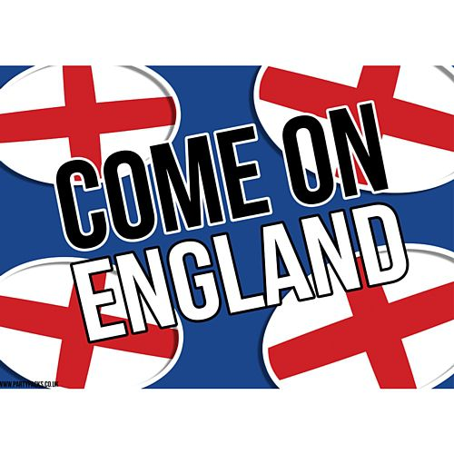 Come On England Rugby Poster - A3
