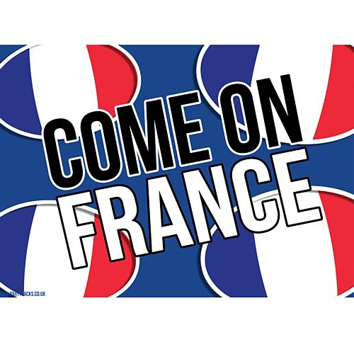 Come On France Rugby Poster - A3