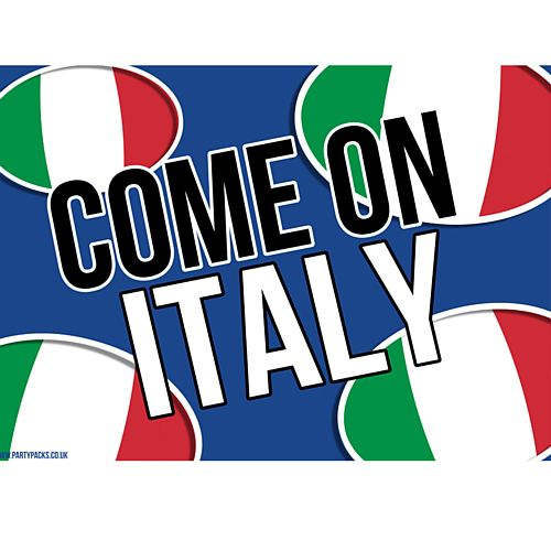 Come On Italy Rugby Poster - A3