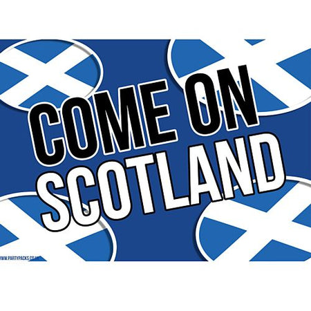 Come On Scotland Rugby Poster - A3