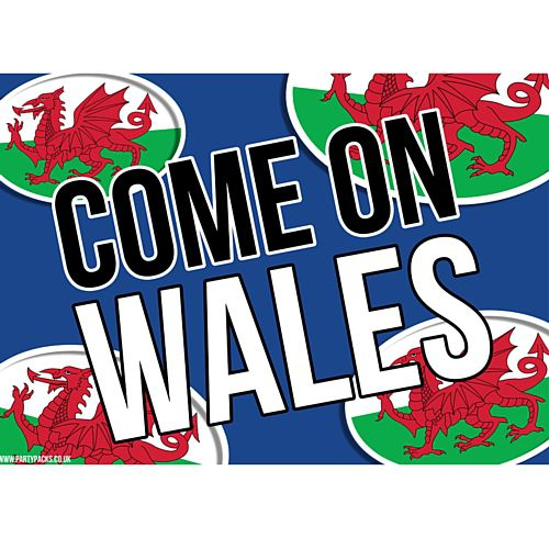 Come On Wales Rugby Poster - A3