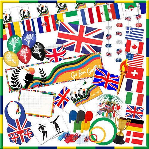 Medium Size World Games Party Decoration Pack