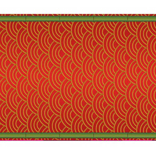 Chinese Themed Paper Table Runner - 120 x 30cm