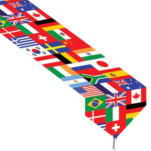 Printed International Flag Table Runner - 1.83m