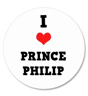 I Love Prince Philip Badge 58mm