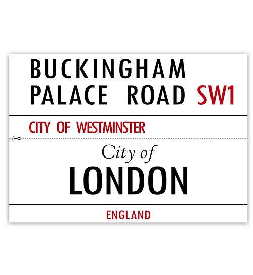 London Street Signs - Set of 2 - A3 Card
