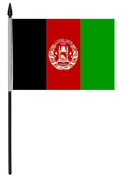 "Afghanistan Cloth Table Flag - 4"" x 6"""