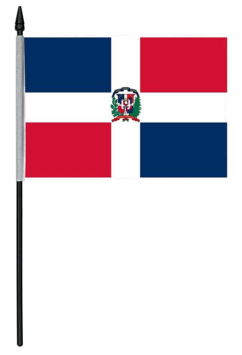 "Dominican Republic Cloth Table Flag - 4"" x 6"""