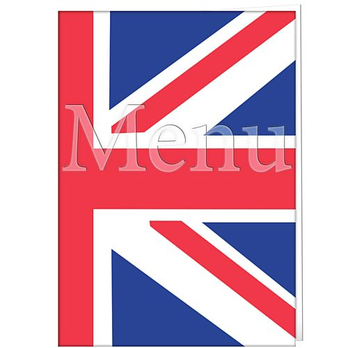 Union Jack Flag Menu Card - Each