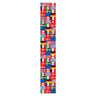 International Flag Pull-Down Jointed Cutout Wall Decoration - 1.82m