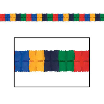 Olympic Colours International Tissue Paper Garland - 3.66m