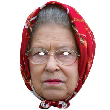 The Queen in Headscarf Card Mask