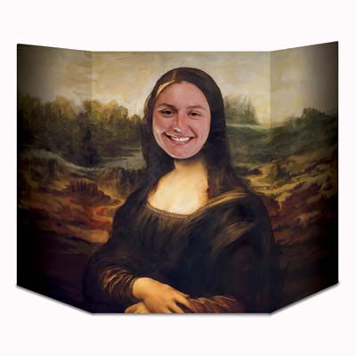 Mona Lisa Masterpiece Smile Stand-In Photo Prop - 94cm