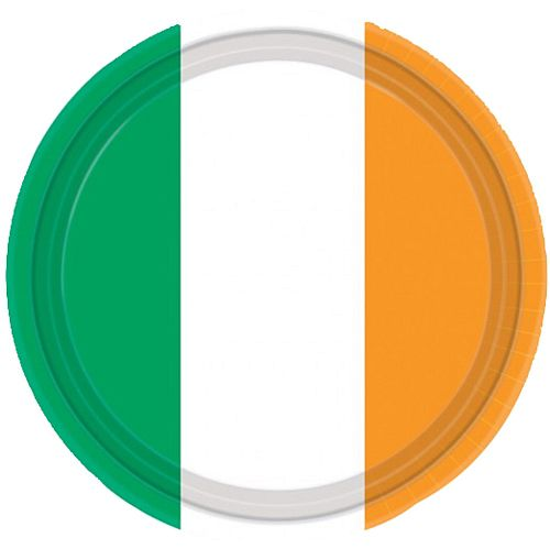 Irish Flag Paper Plates - 22.8cm - Pack of 8