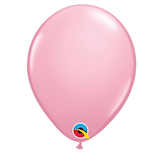"Pale Pink Plain Colour Mini Latex Balloons - 5"" - Pack of 10"