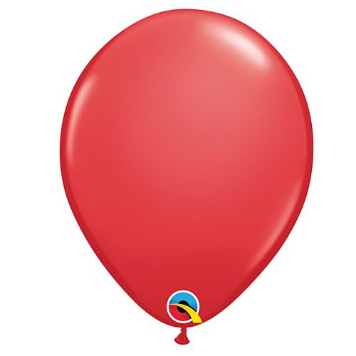 "Red Plain Colour Mini Latex Balloons - 5"" - Pack of 10"