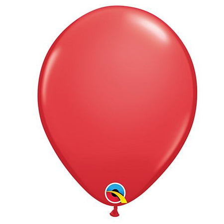 Red Plain Colour Mini Latex Balloons - 5