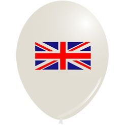 British Union Jack Flag Latex Balloons- Pack of 10 - 10