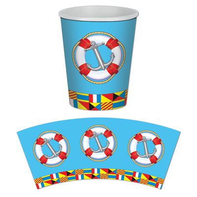 Nautical Beverage Cups - 266ml - Pack of 8