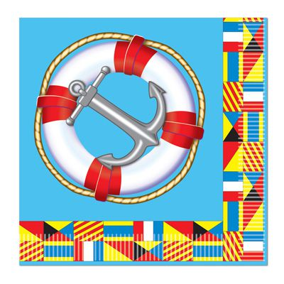 Nautical Luncheon Napkins - 2-Ply - Pack of 16
